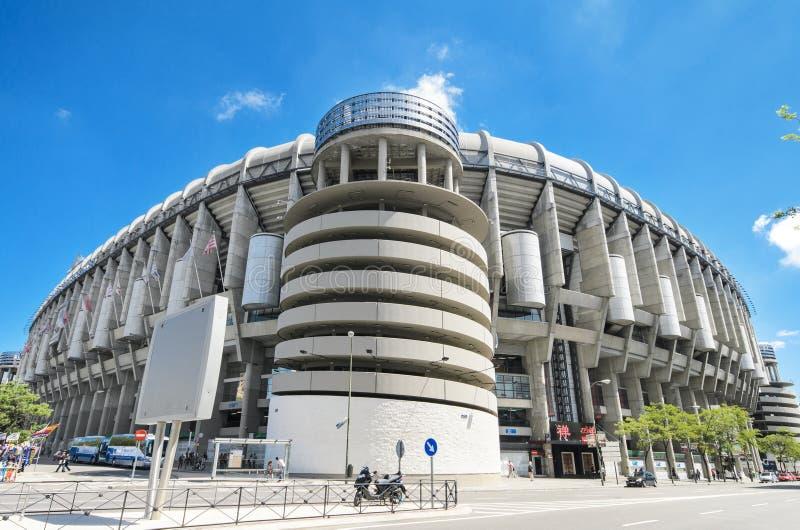 Het stadion van de clubsantiago bernabeu van de Real Madridvoetbal royalty-vrije stock foto's