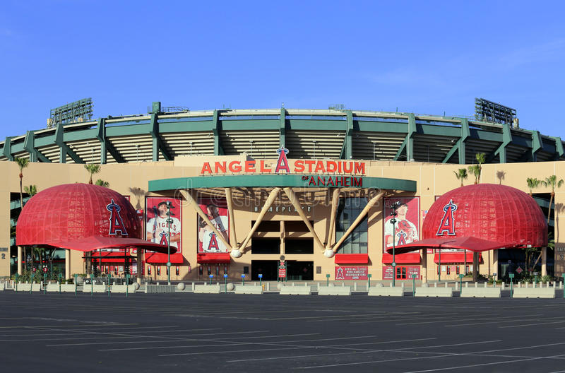 Het Stadion van de engel van Anaheim stock fotografie