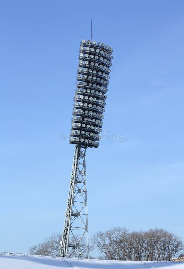 Het stadion van de lamp stock afbeelding