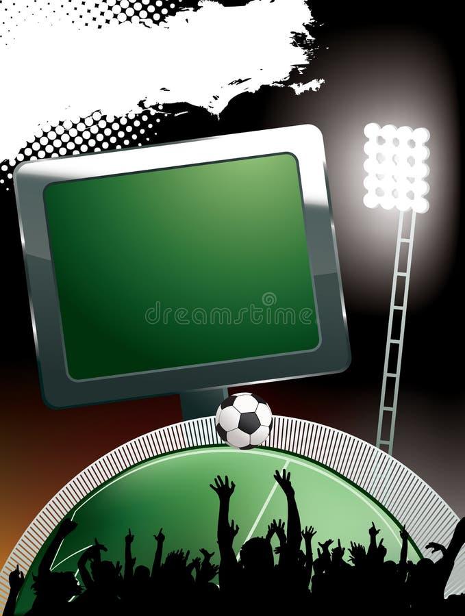 Het stadion van de voetbal royalty-vrije illustratie