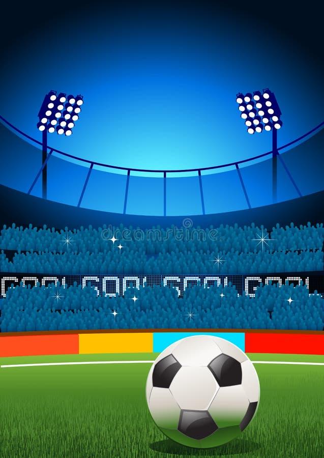 Het Stadion van de voetbal stock illustratie