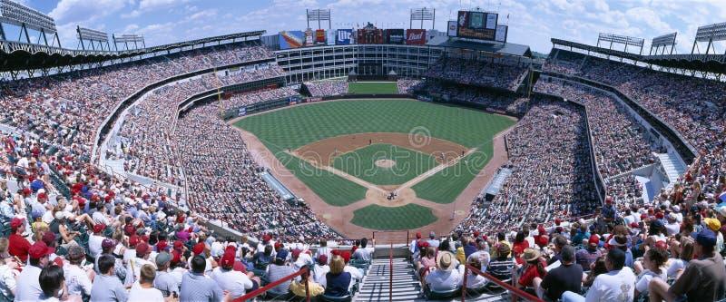 Het stadion van het honkbal, Bereden politie v Baltimore Orioles, Dallas, Texas royalty-vrije stock afbeelding