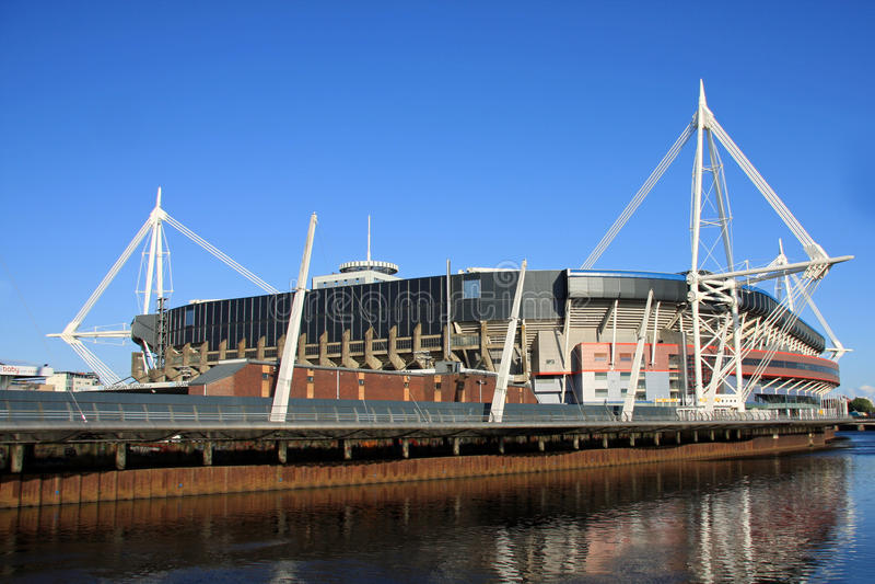 Het Stadion van het millennium, Cardiff royalty-vrije stock foto