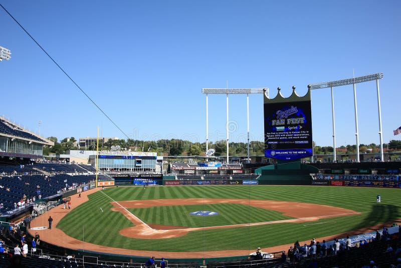 Het Stadion van Kauffman - de Stad Royals van Kansas royalty-vrije stock foto