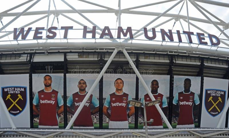 Het Stadion van Londen - buiten Detail stock fotografie