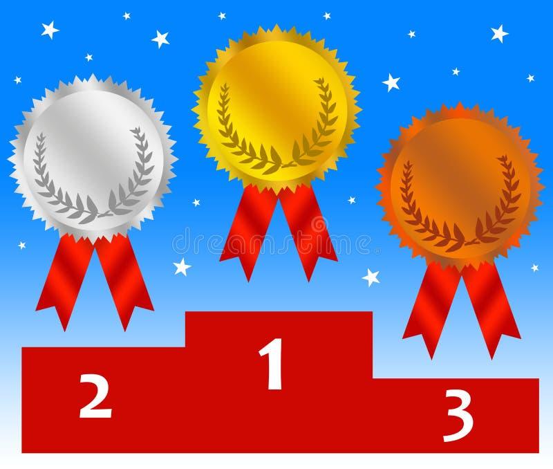 Het stadium van de medaille stock illustratie