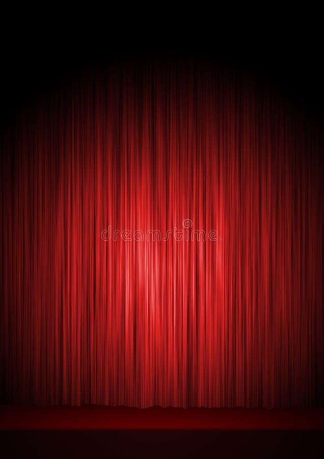 Het stadium van het theater royalty-vrije illustratie