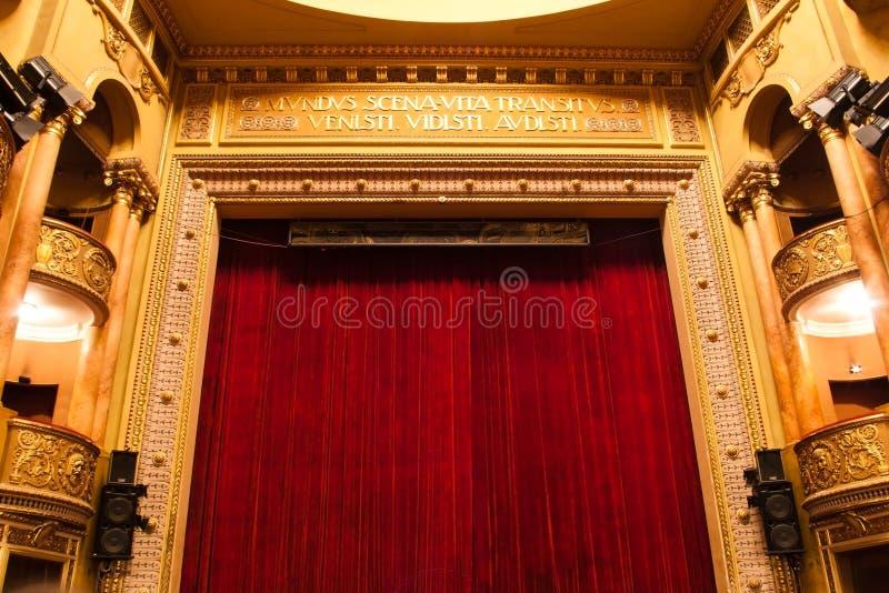 Het stadium van het theater stock afbeelding