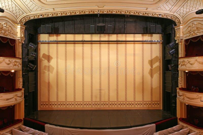 Het stadium van het theater stock foto