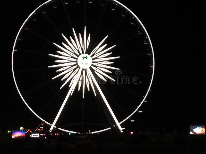 Het stadiumbus Farriswheel van de Coachellavallei royalty-vrije stock fotografie