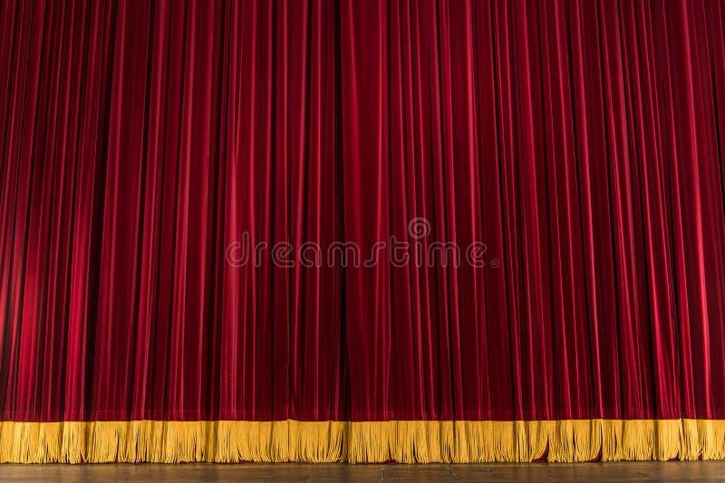 Het stadiumgordijn van het theater royalty-vrije stock fotografie