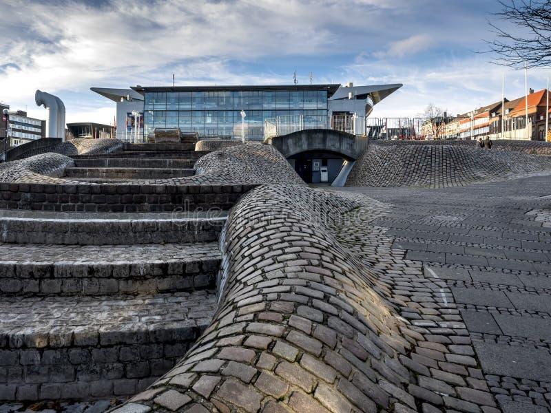 Het stadscentrum in Kiel, Duitsland stock afbeelding