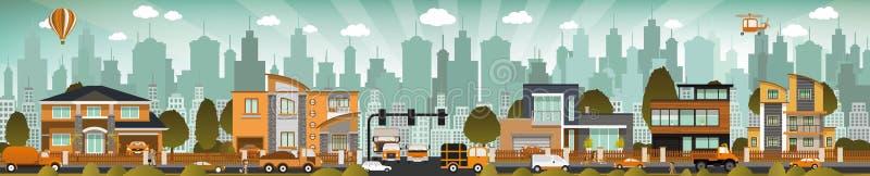 Het stadsleven stock illustratie