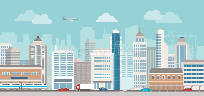 Het stadsleven royalty-vrije illustratie