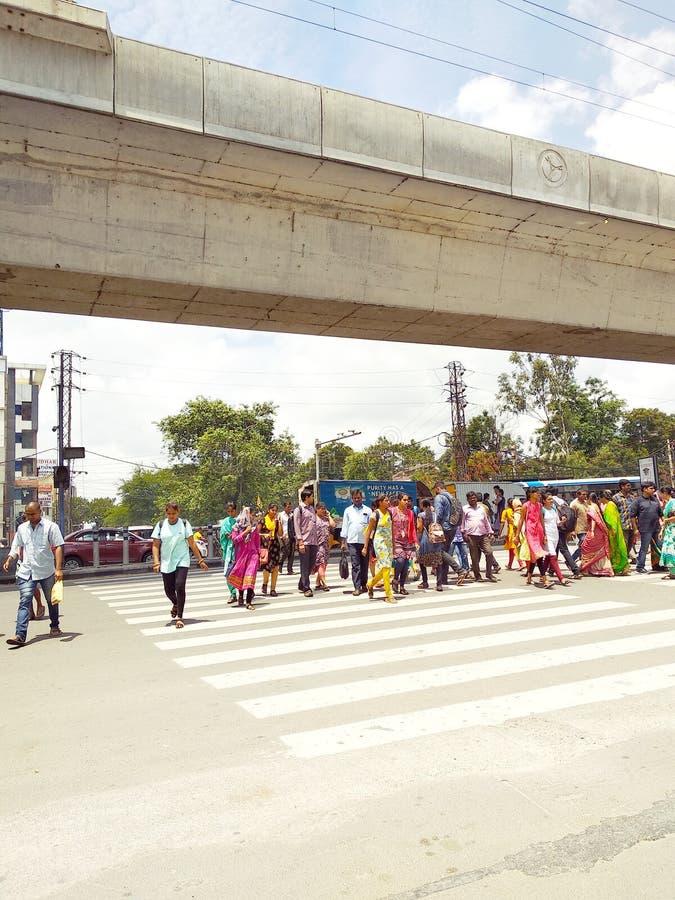 Het stadsleven van India royalty-vrije stock fotografie