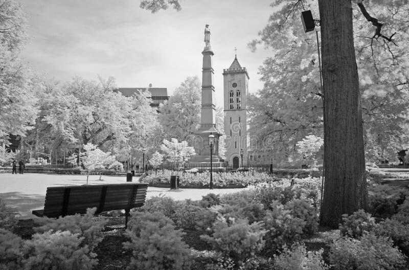 Het stadspark in Morristown stock foto's
