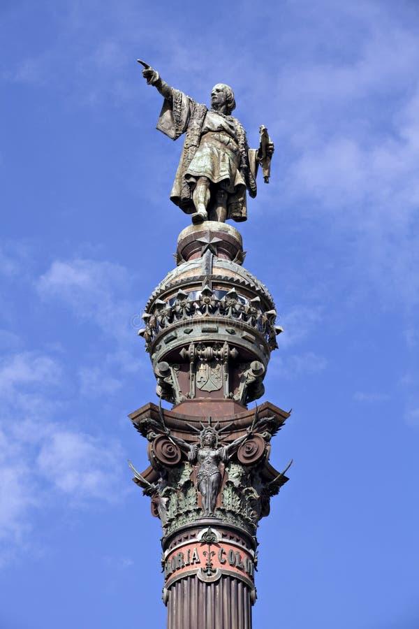 Het standbeeld Barcelona van Columbus royalty-vrije stock fotografie