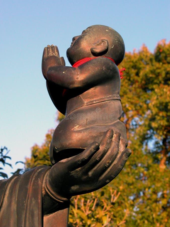 Het standbeeld-detail van Boedha stock afbeelding