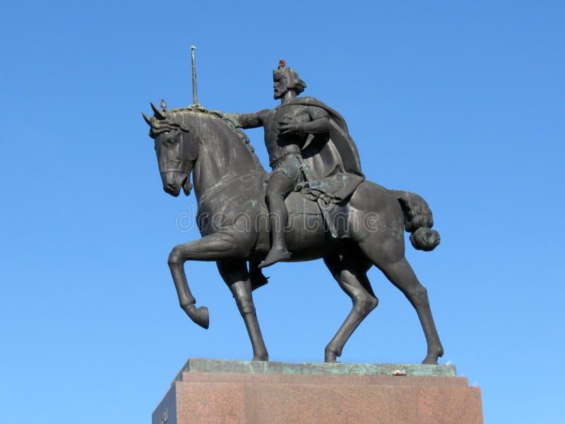 Het standbeeld die van Koning Tomislav een paard in Zagreb berijden royalty-vrije stock afbeeldingen
