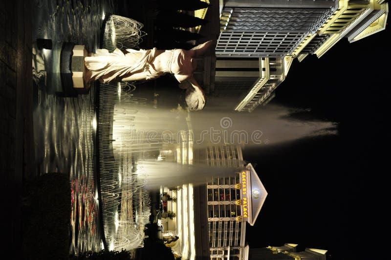 Het Standbeeld en het Caesars Palace van de overwinning - Las Vegas, de V.S. royalty-vrije stock foto