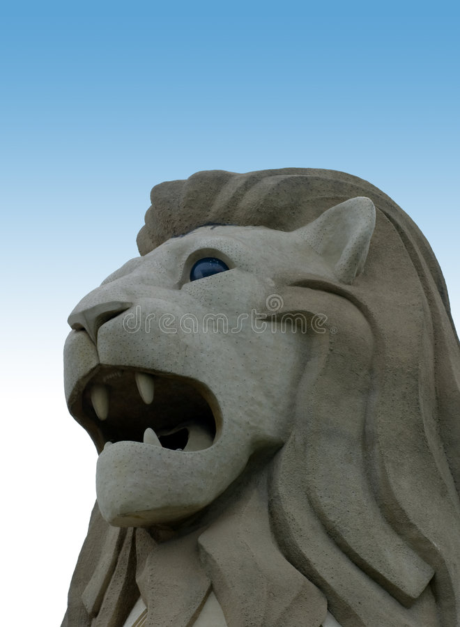 Het standbeeld Merlion royalty-vrije stock foto's