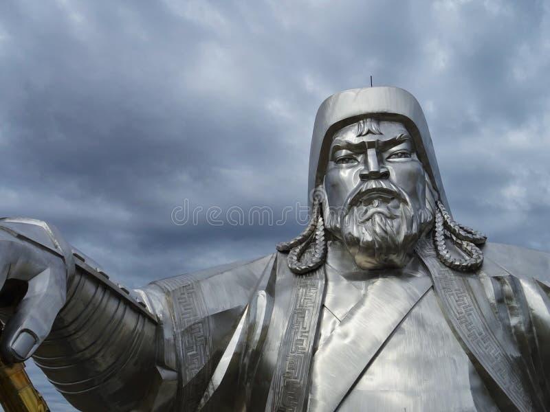 Het standbeeld Mongolië van Dzjengiskhan royalty-vrije stock foto's