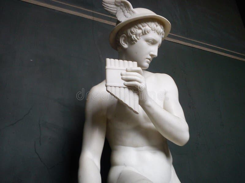 Het standbeeld thorvaldsen langs stock afbeelding