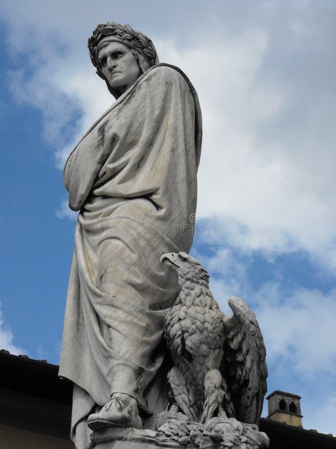 Het Standbeeld van Alighieri van Dante, Florence stock foto's
