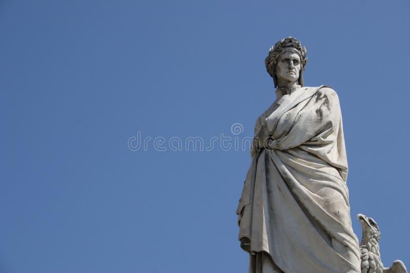 Het standbeeld van Alighieri van Dante, Florence, Italië stock fotografie