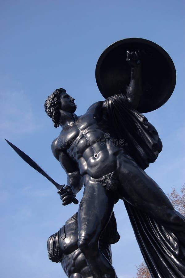 Het standbeeld van Apollo in Park Hyde stock foto's
