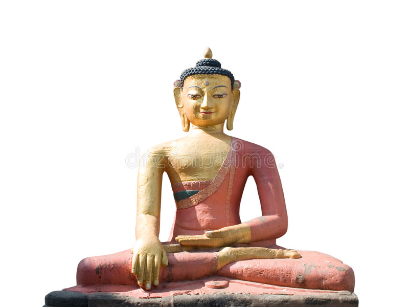 Het Standbeeld van Boedha Aksobhya van Dhyani stock afbeelding