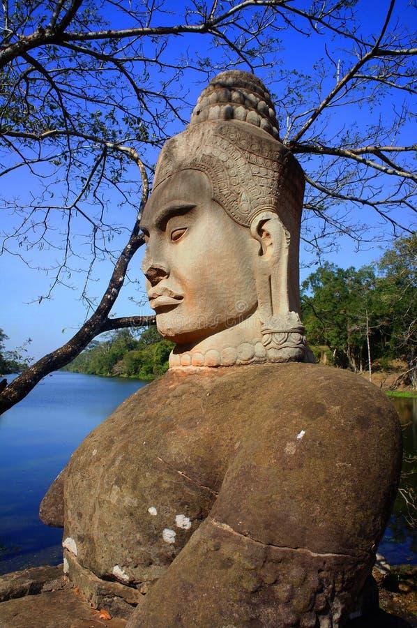 Het standbeeld van Boedha, Angkor-Vat stock fotografie