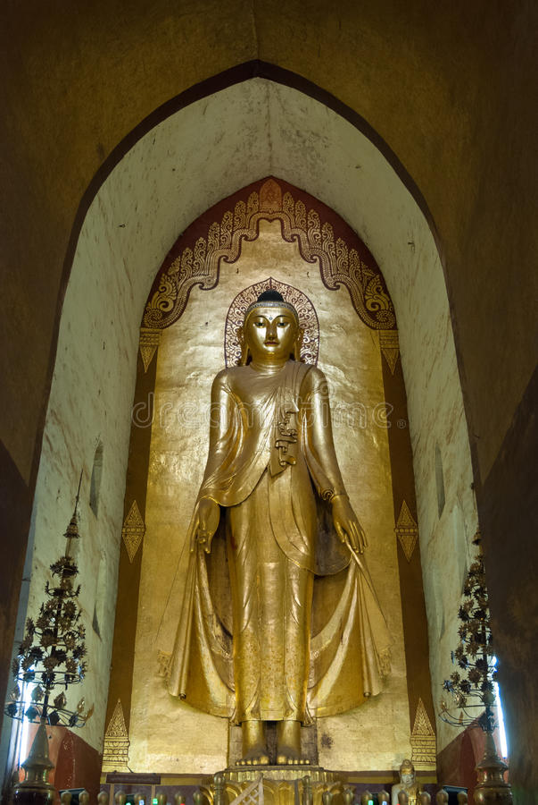 Het standbeeld van Boedha in Bagan royalty-vrije stock fotografie