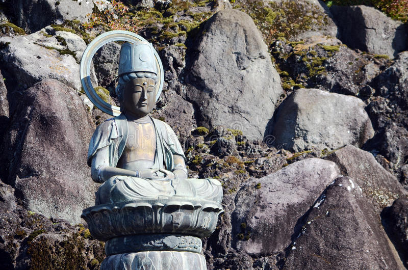 Het Standbeeld van Boedha bij narita-San Tempel, Japan stock afbeeldingen