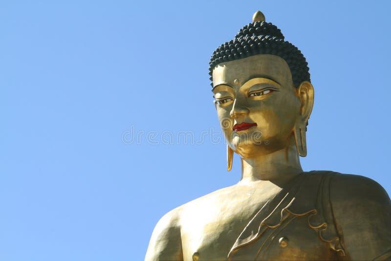 Het standbeeld van Boedha Dordenma op blauwe hemelachtergrond, Reuzeboedha royalty-vrije stock afbeeldingen