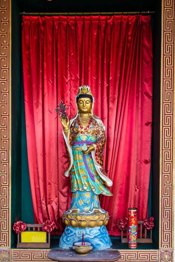 Het standbeeld van Boedha in een tempel in Semarang Indonesië royalty-vrije stock fotografie