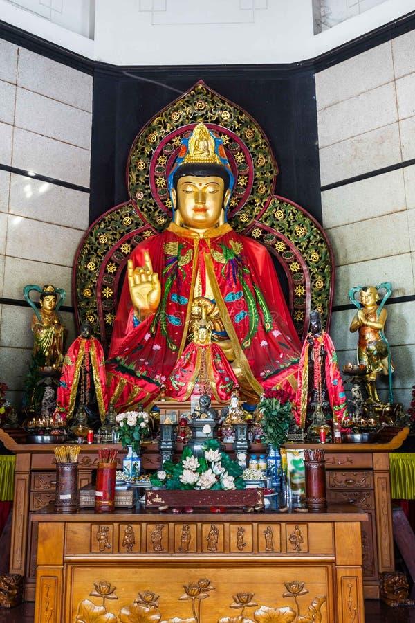 Het standbeeld van Boedha in een tempel in Semarang Indonesië royalty-vrije stock afbeelding