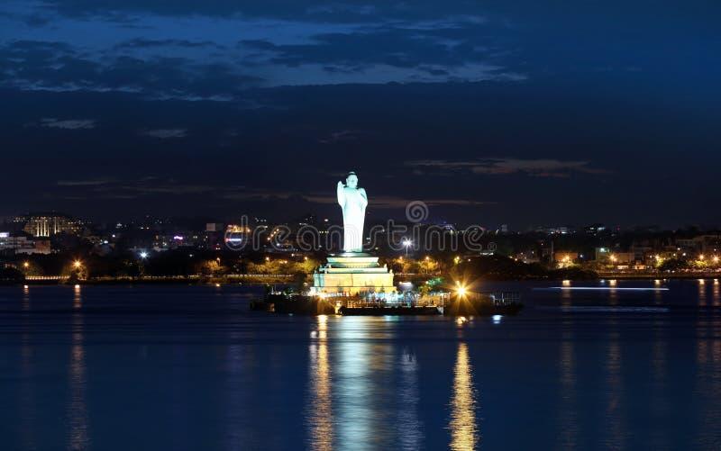 Het standbeeld van Boedha in Hyderabad royalty-vrije stock fotografie