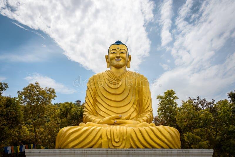 Het standbeeld van Boedha in Nepal stock foto's