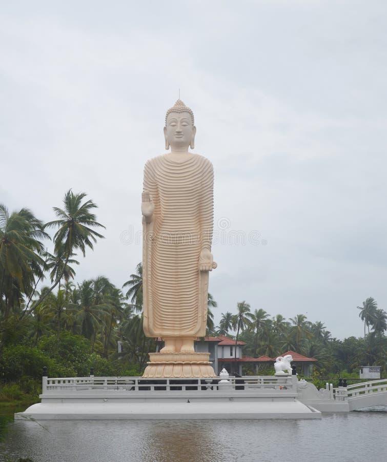 Het Standbeeld van Boedha van de Bamianreplica van Tsunami Honganji Vihara stock foto
