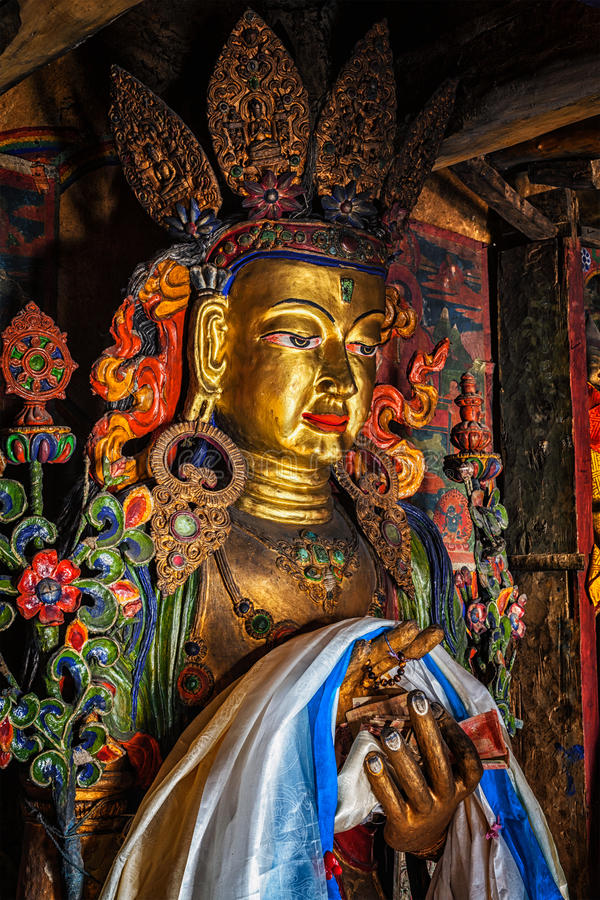 Het standbeeld van Boedha van Maitreya stock fotografie