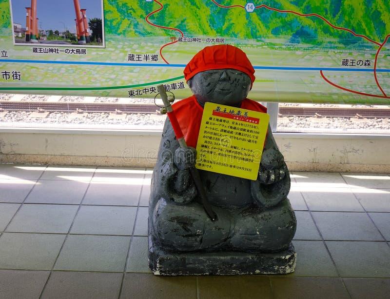Het standbeeld van Boedha voor decoratie bij tempel stock foto