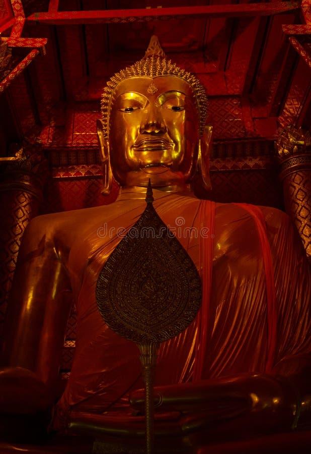 Het standbeeld van Boedha in Wat Panan Choeng-tempel royalty-vrije stock afbeelding