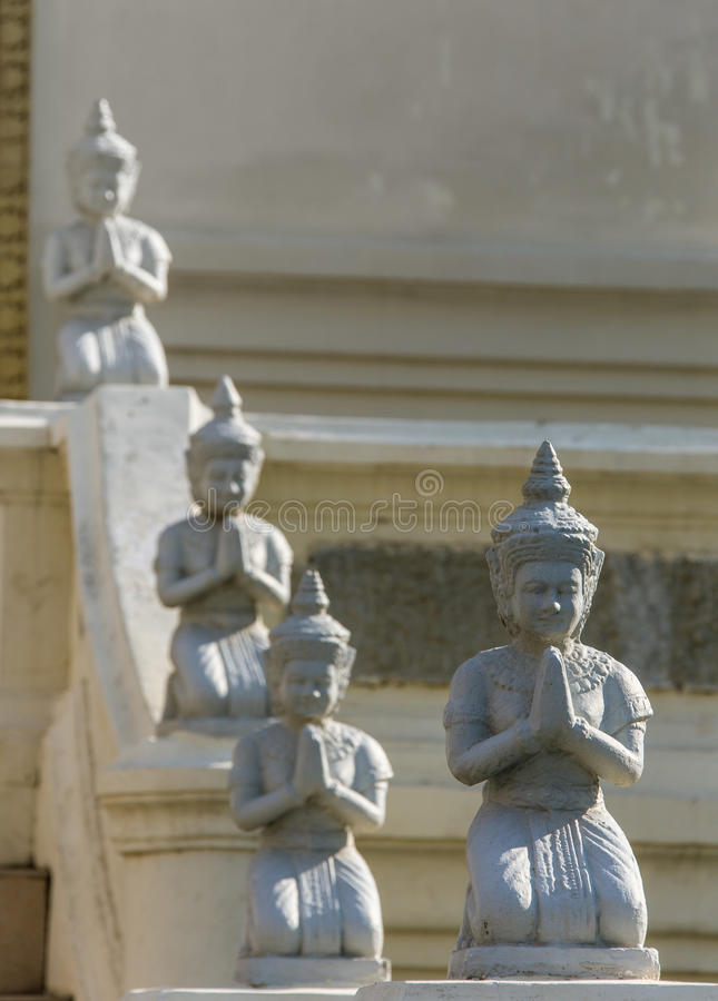 Het standbeeld van Boedha in wat umong, chiang MAI stock fotografie