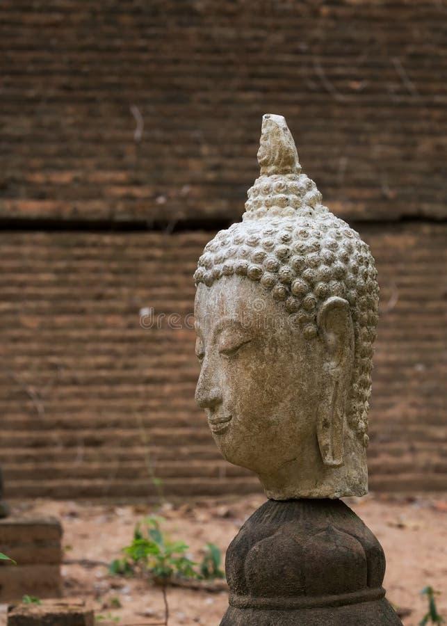 Het standbeeld van Boedha in wat umong, chiang MAI, reist Thaise tempel stock foto