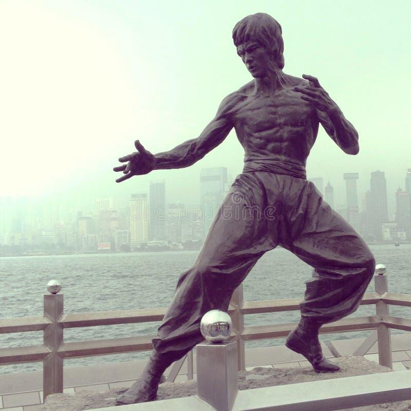 Het standbeeld van Bruceluwtes van Hongkong royalty-vrije stock foto's