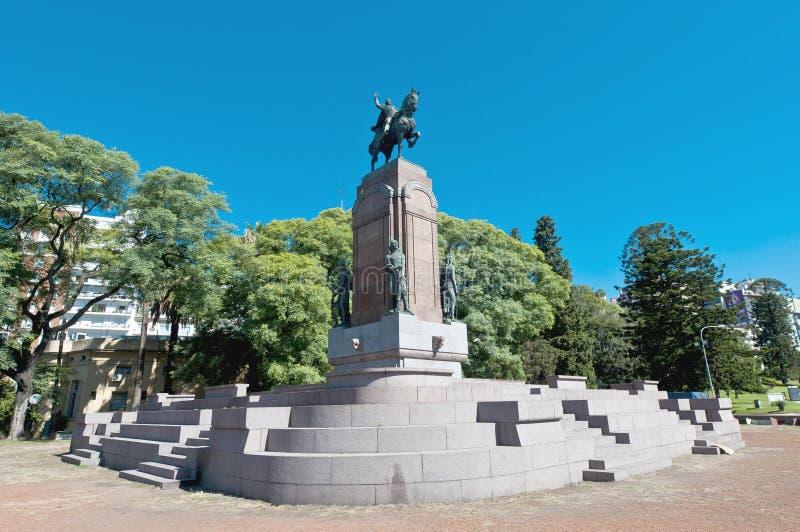 Het standbeeld van Carlos de Alvear in Buenos aires stock foto's