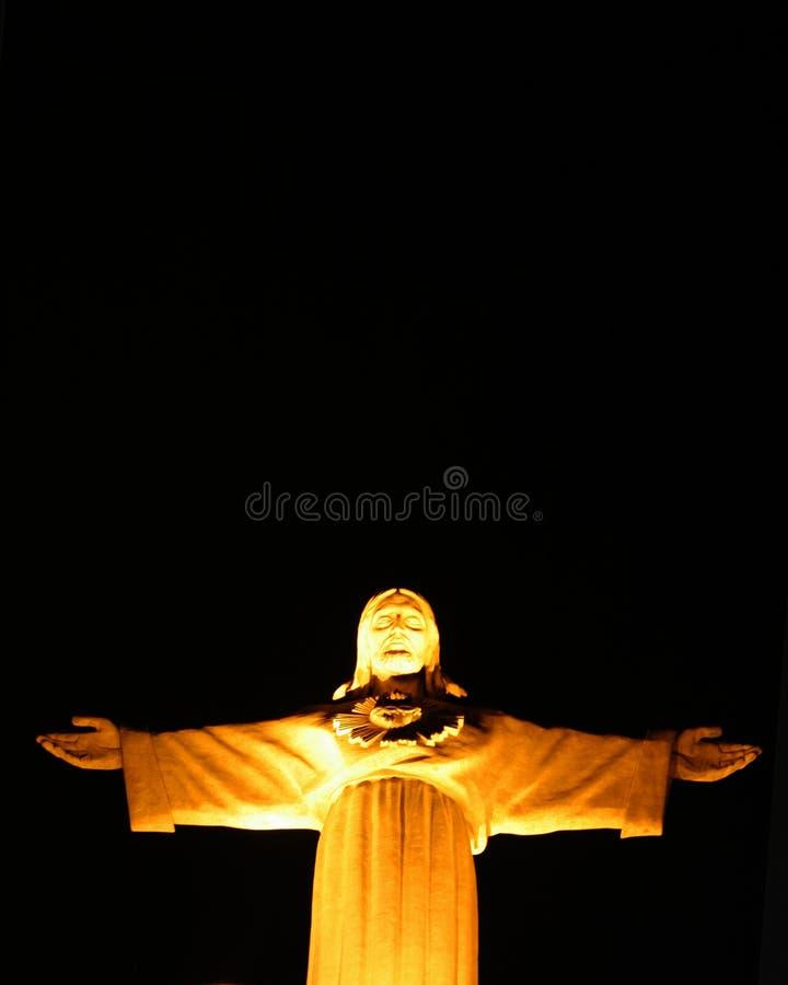 Het standbeeld van Christus in Lissabon stock foto
