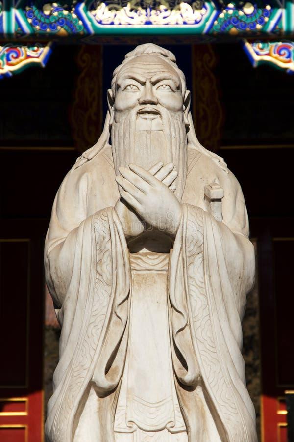 Het Standbeeld van Confucius in Peking, China royalty-vrije stock fotografie