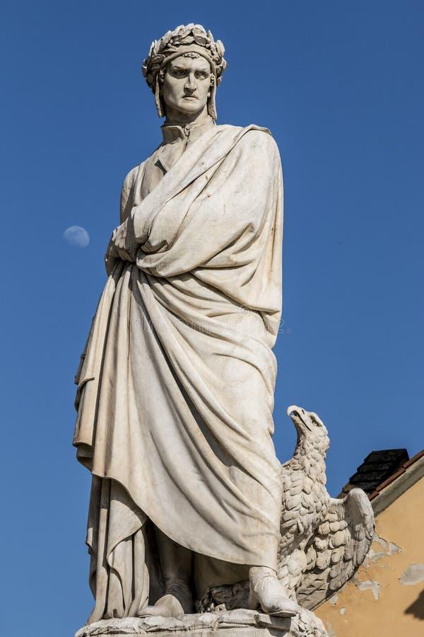 Het standbeeld van Dante royalty-vrije stock foto's